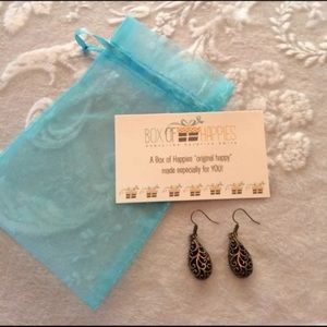 Box of Happies Bronze Earrings NEW